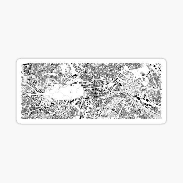 Berlin black & white building city map Sticker