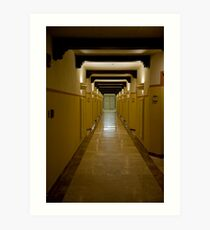 Corridor Patterns Art Print