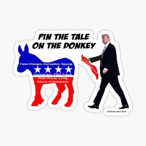 Pin The Tale On The Donkey Sticker