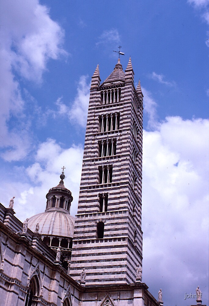 Campanille, Duomo, Siena, Italy. by johnrf