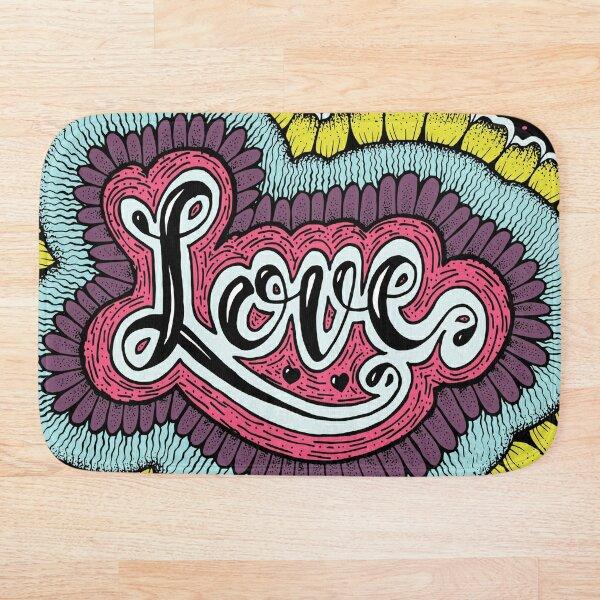 Psychedelic Love Bath Mat