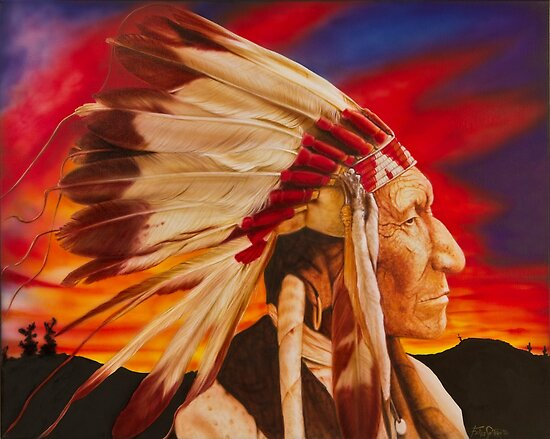 Native American Chief by SolteroArt