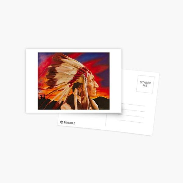 Native American Chief Postcard