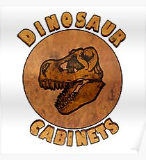 Dinosaur Cabinets Poster