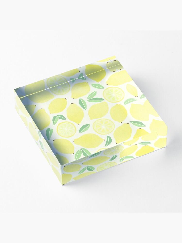 Alternate view of Summer Lemons Acrylic Block