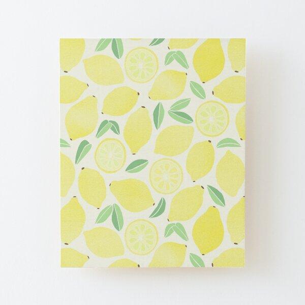 Sommer Zitronen Aufgezogener Druck auf Holz