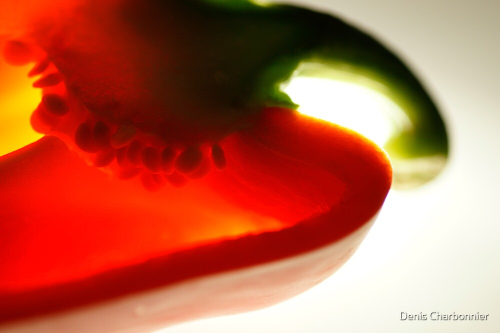 Red pepper slice by Denis Charbonnier