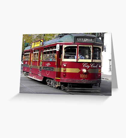 Lovely Old Tram Greeting Card