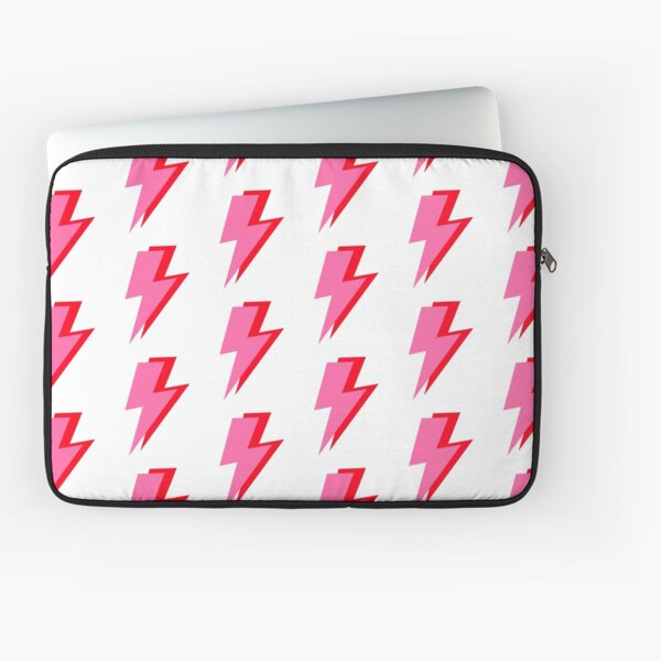 Pink and Red Lightning  Laptop Sleeve