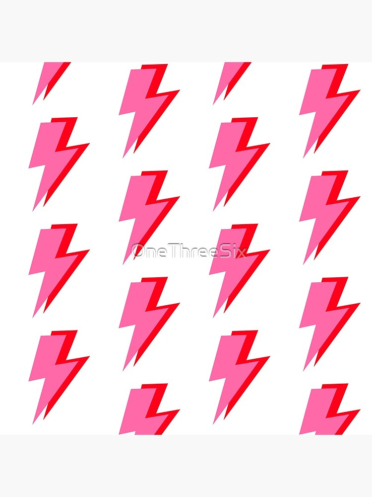 Pink and Red Lightning  by OneThreeSix