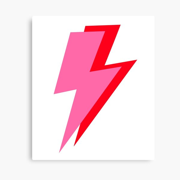 Pink and Red Lightning  Canvas Print