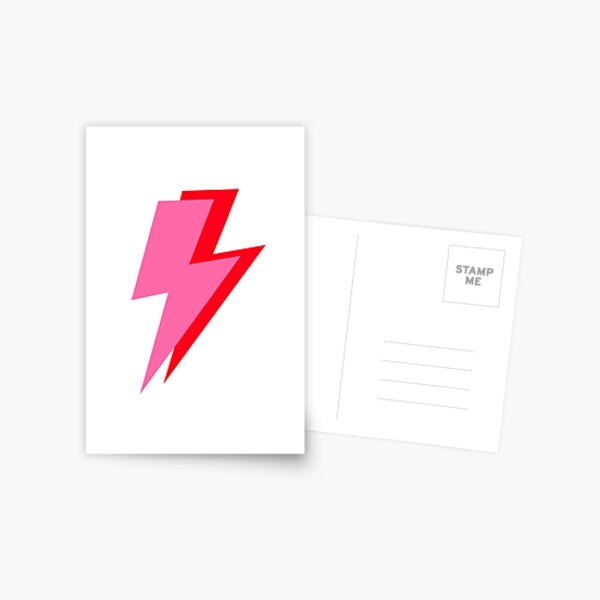 Pink and Red Lightning  Postcard