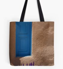 Grape Hyancinth & Turquoise Door Tote Bag
