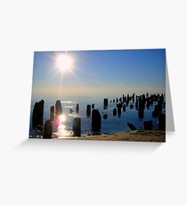 Sunset from a different time Greeting Card