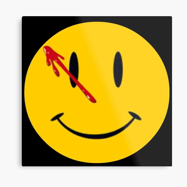 Bleeding Smiley Face Metal Print