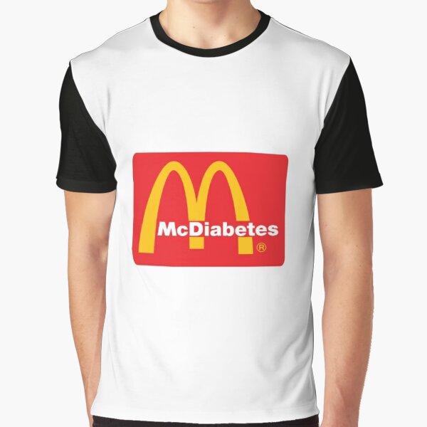 mcdo parodie logo mcdiabetes T-shirt graphique