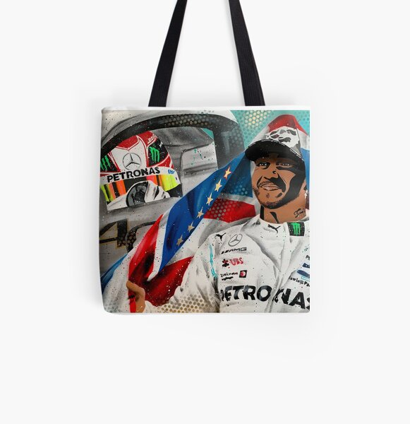 Lewis Hamilton - 6 x Champion painting by DRAutoArt All Over Print Tote Bag