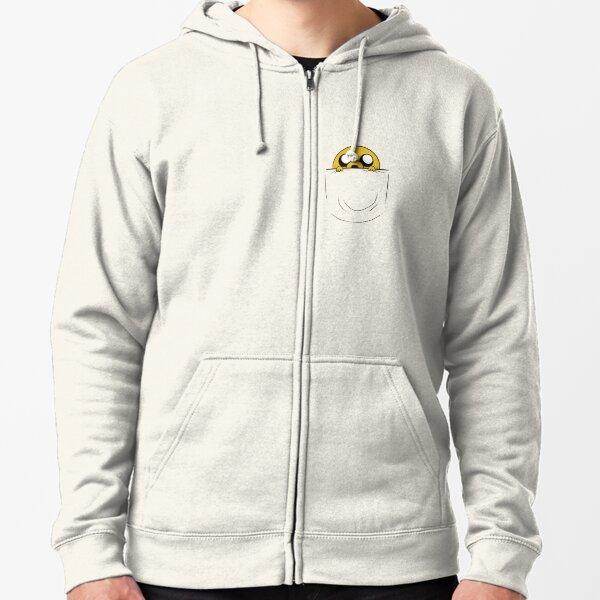 Jake in the pocket - Adventure Time Fan Art Zipped Hoodie