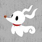 Puppy Zero - Distressed Grey, Weiß, Ghost, Dog von CanisPicta