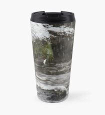 Oh yes it 's snowing. White-throated dipper Travel Mug