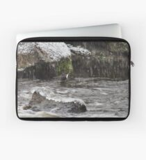 Oh yes it 's snowing. White-throated dipper Laptop Sleeve