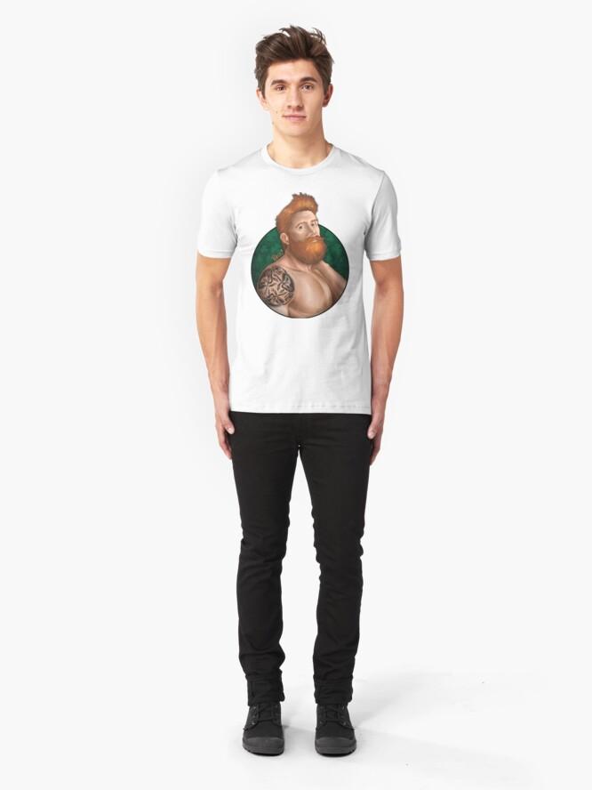 Alternate view of Irish eyes with background Slim Fit T-Shirt
