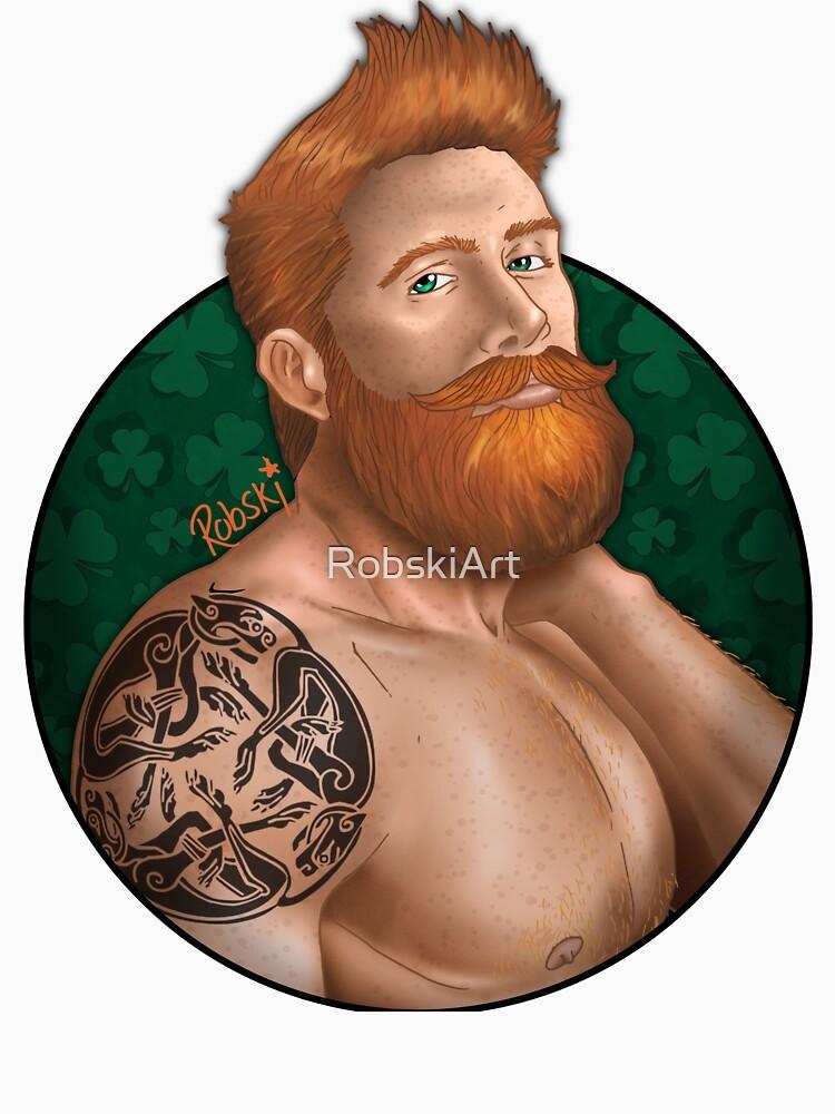 Irish eyes with background by RobskiArt