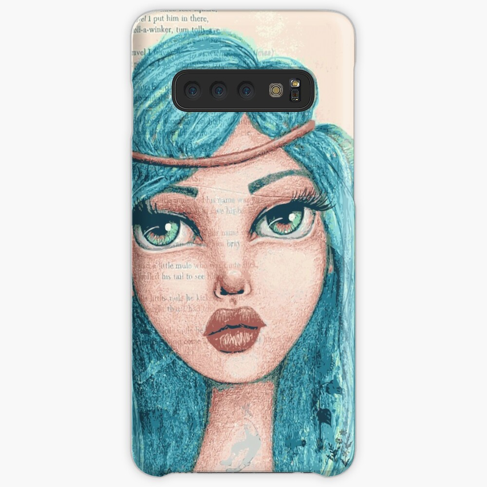 Feathers in Her Hair Case & Skin for Samsung Galaxy
