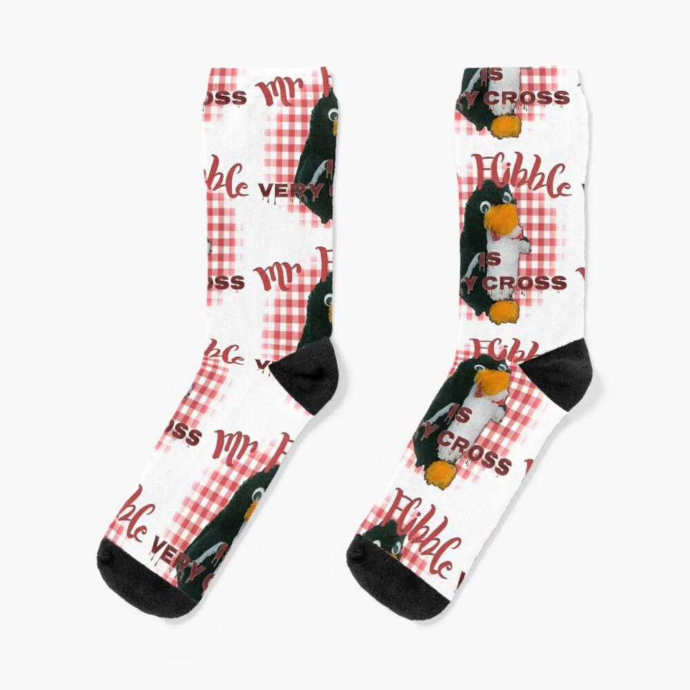 Mr Flibble is very cross Socks