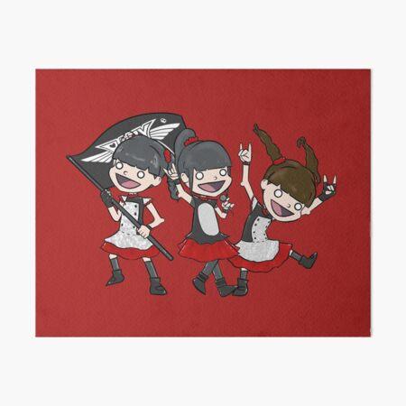 Three Kitsune Goddesses Art Board Print