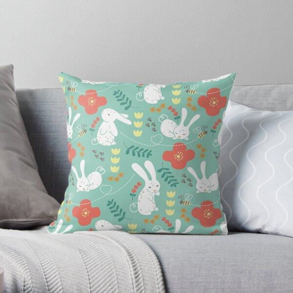 Rabbit Season Throw Pillow