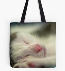 Sleeping Kitten Tote Bag