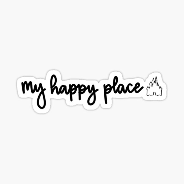 mi lugar feliz Pegatina