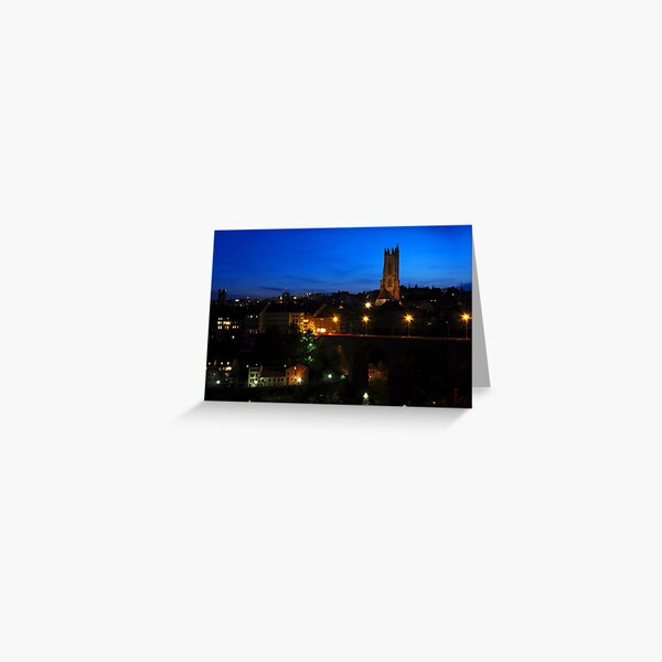 Fribourg by night Greeting Card