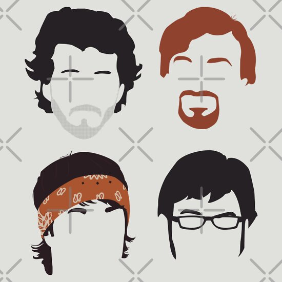 TShirtGifter presents: Flight of the Conchords Silly-ettes: 4-up