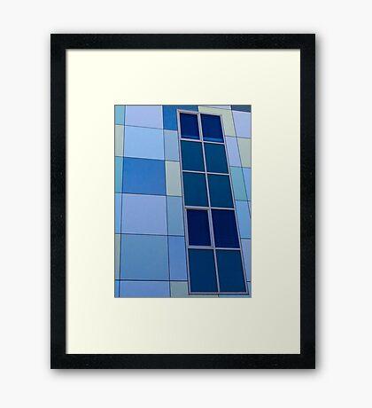 Blue on Blue  - Edith Cowan University Mt Lawley - Perth, Western Australia Framed Print