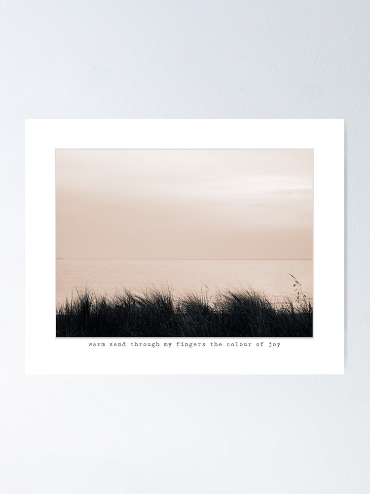 Alternate view of warm sand Poster