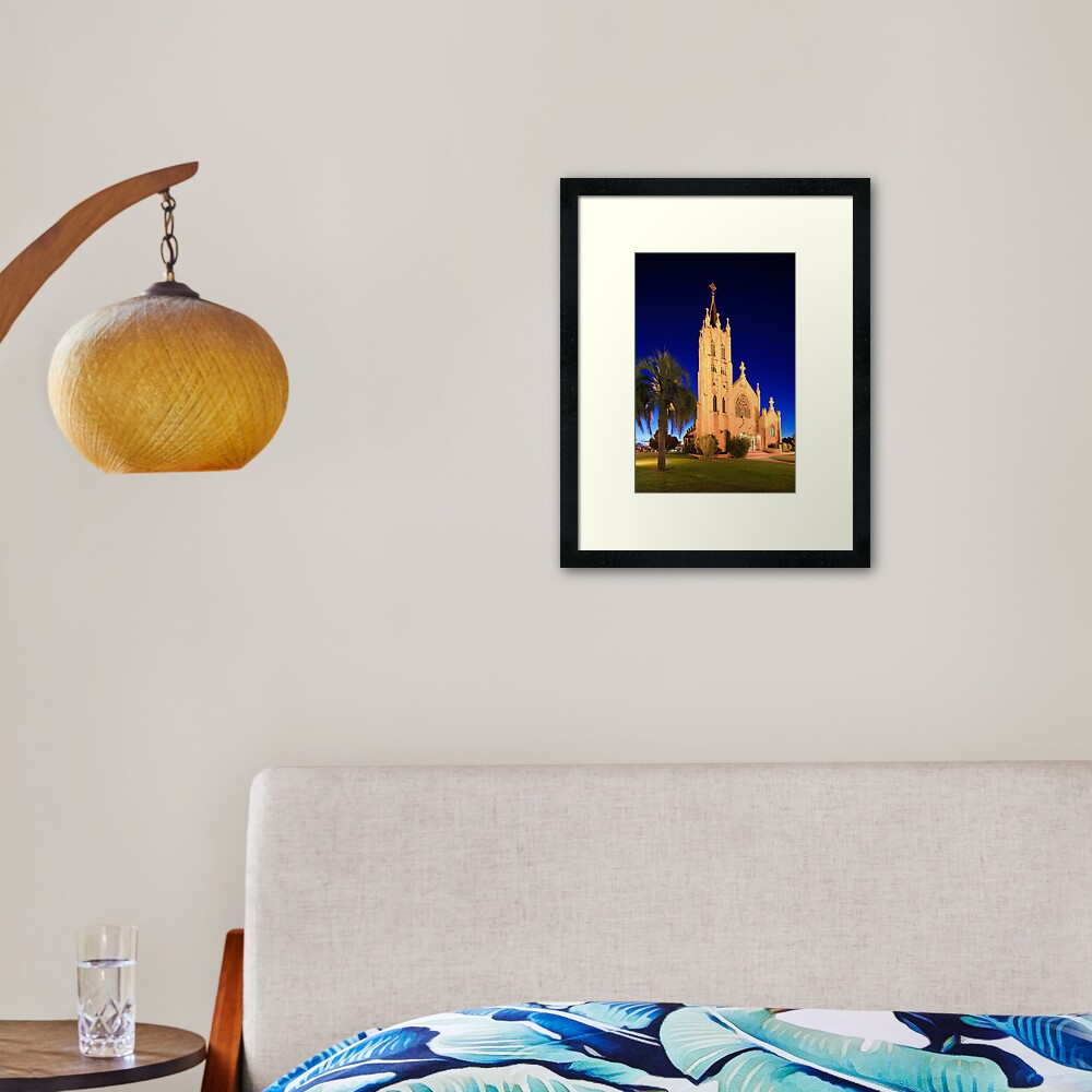 St Mary's Church during Blue Hour Framed Art Print