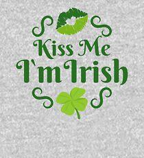 Kiss Me I'm Irish Emoji JoyPixels Love Ireland Kids Pullover Hoodie