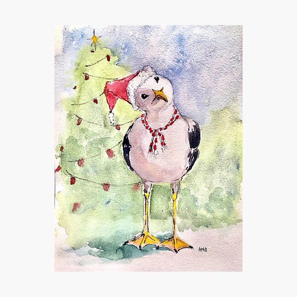 Santa's little helper Photographic Print