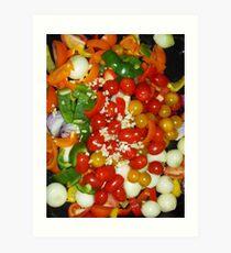 Vegetables Roasting Soon Art Print