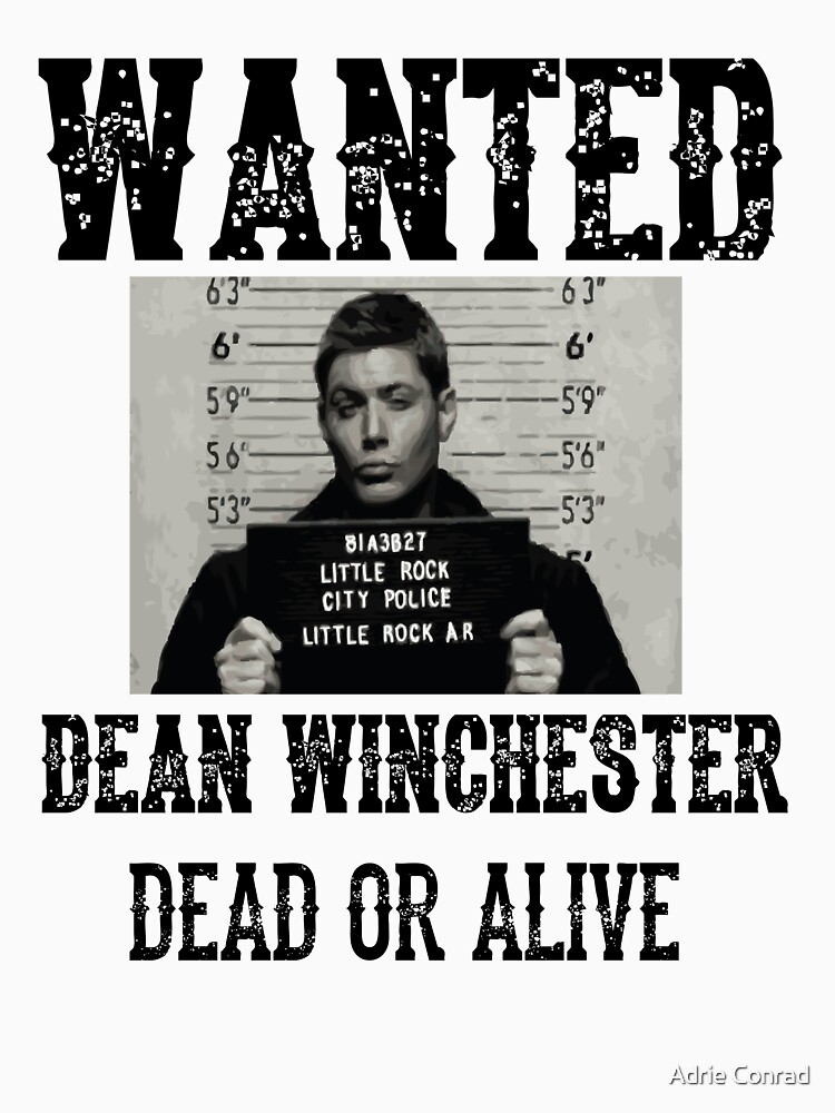 Dean Winchester Wanted Sign by TheWarriors
