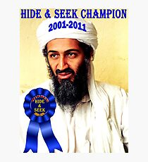 Hide & Seek Champion Photographic Print