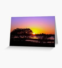Rose cast over the horizon Greeting Card