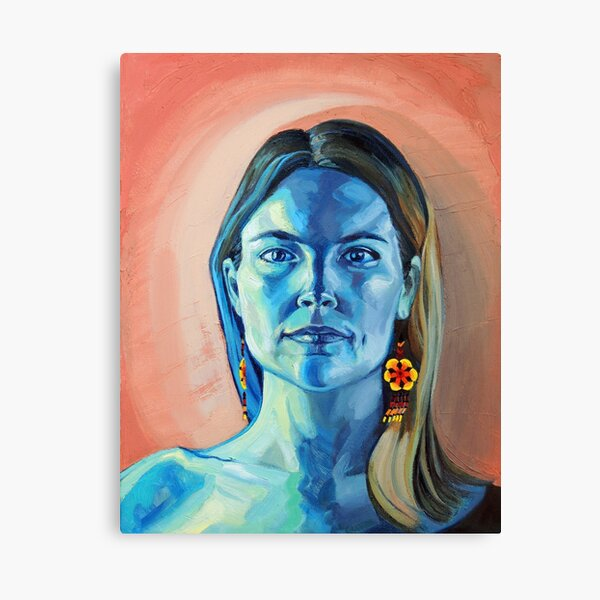 Peyote Woman (self portrait) Canvas Print
