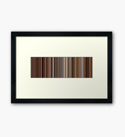 Moviebarcode: The Life Aquatic with Steve Zissou (2004) [Simplified Colors] Framed Print