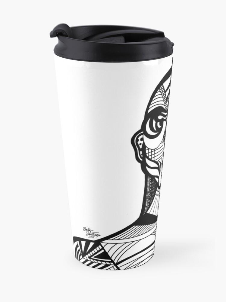 Alternate view of Abstract Portrait 2 Travel Mug