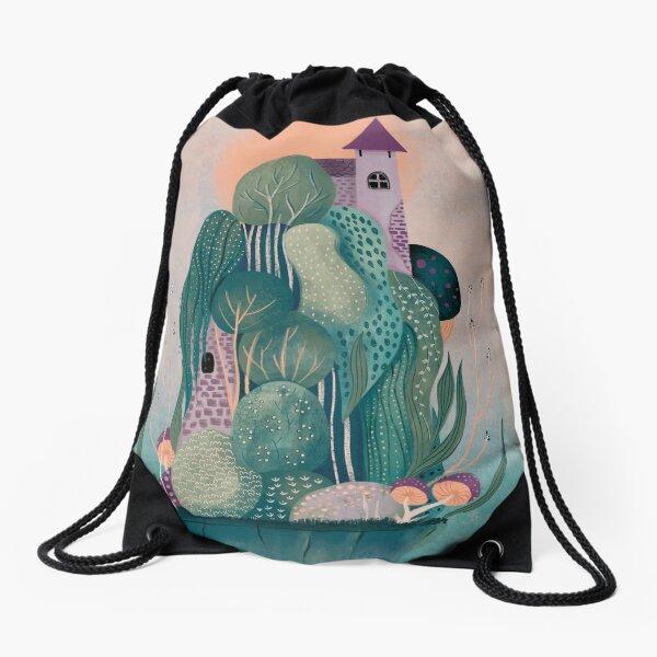 Dragon's home Drawstring Bag