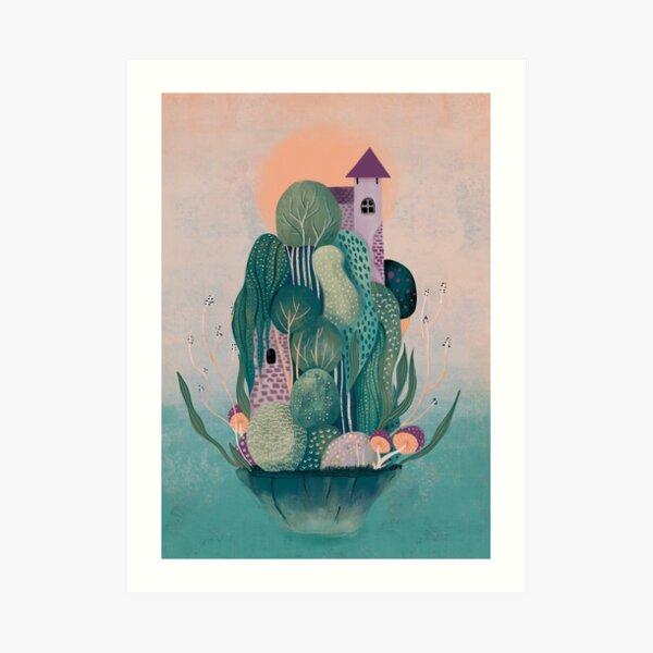 Dragon's home Art Print