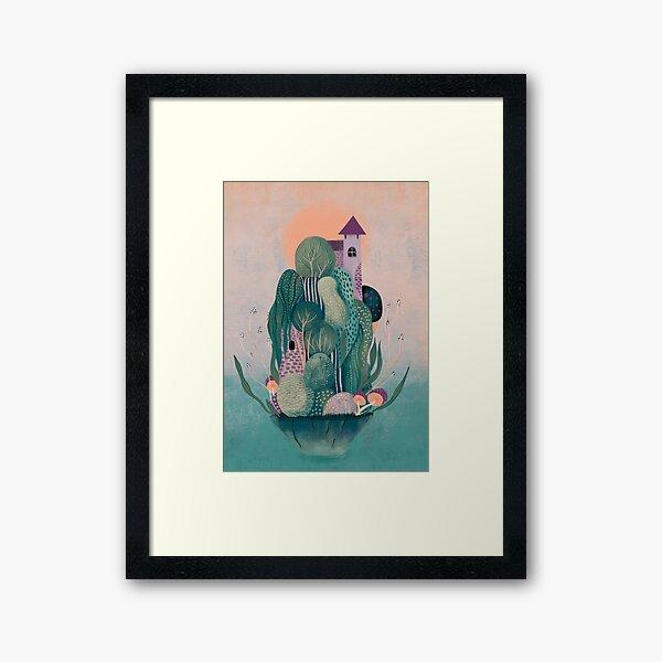 Dragon's home Framed Art Print